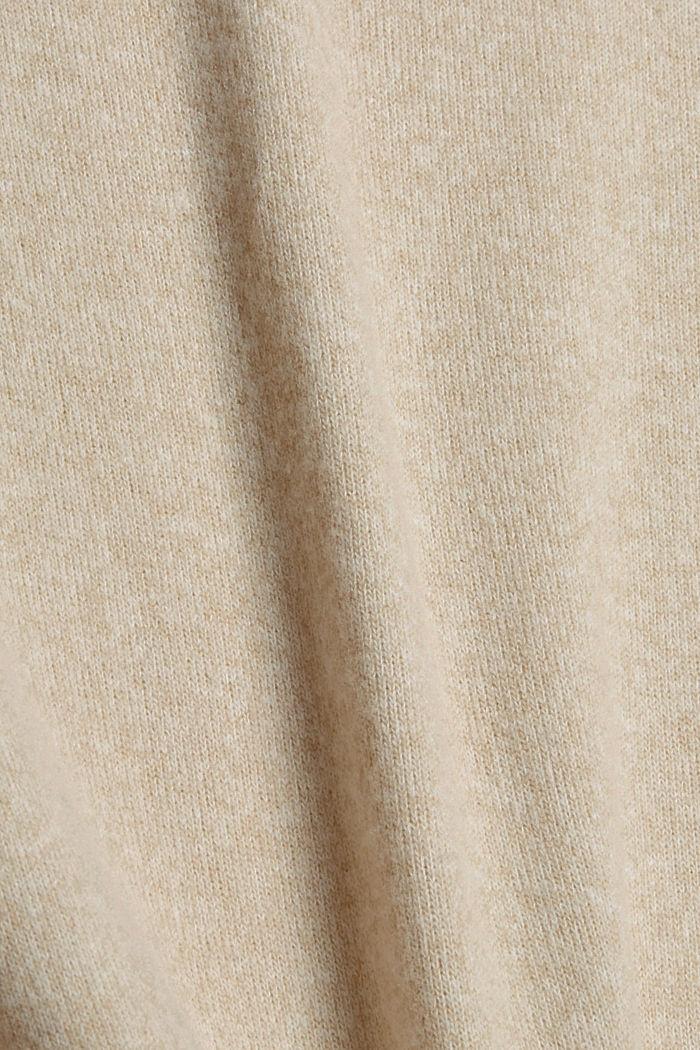 Brushed Longsleeve mit Ballonärmeln, BEIGE, detail image number 4