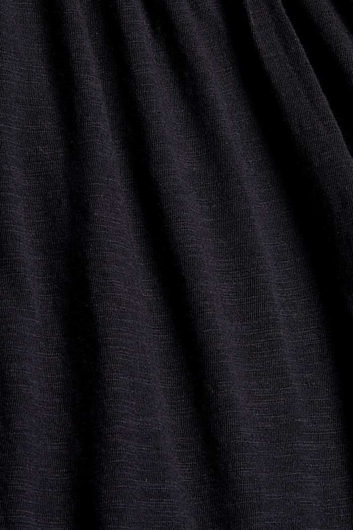 Longsleeve mit Spitze aus Bio-Baumwoll-Mix, BLACK, detail image number 4