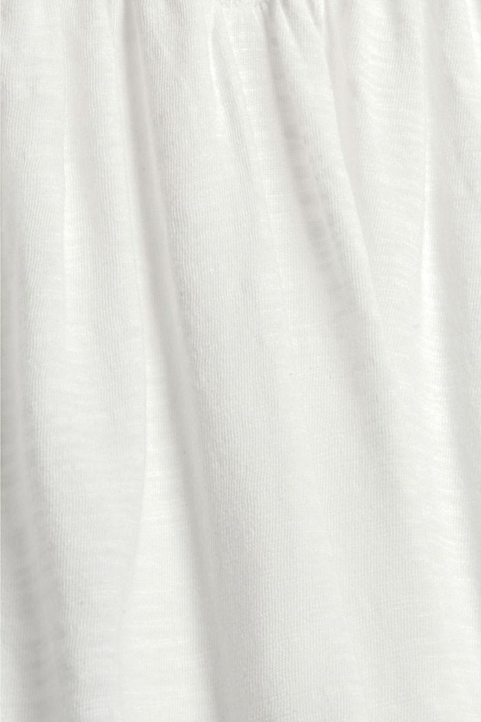 Longsleeve mit Spitze aus Bio-Baumwoll-Mix, OFF WHITE, detail image number 4