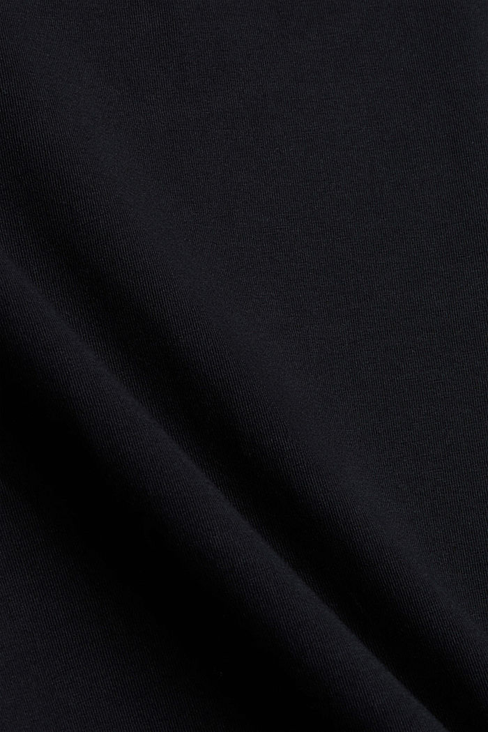 Long sleeve top with lace, organic cotton, BLACK, detail image number 4