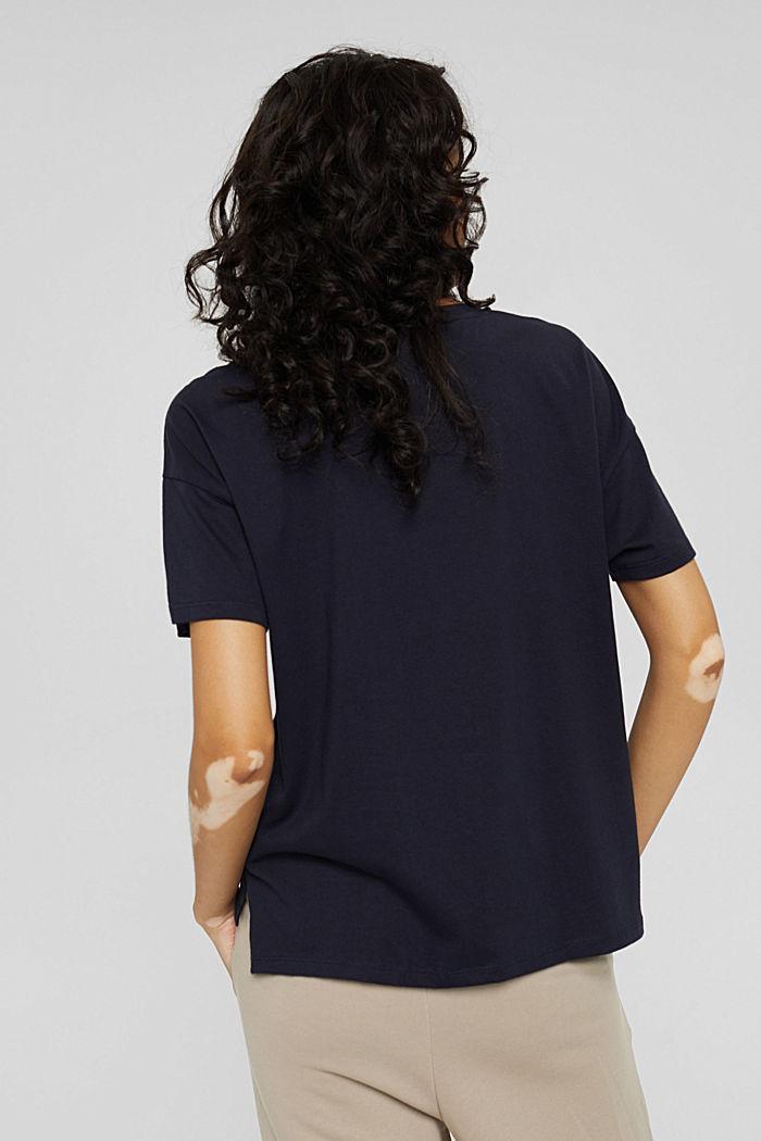T-Shirt mit Paisleyprint, 100% Bio-Baumwolle, NAVY, detail image number 3