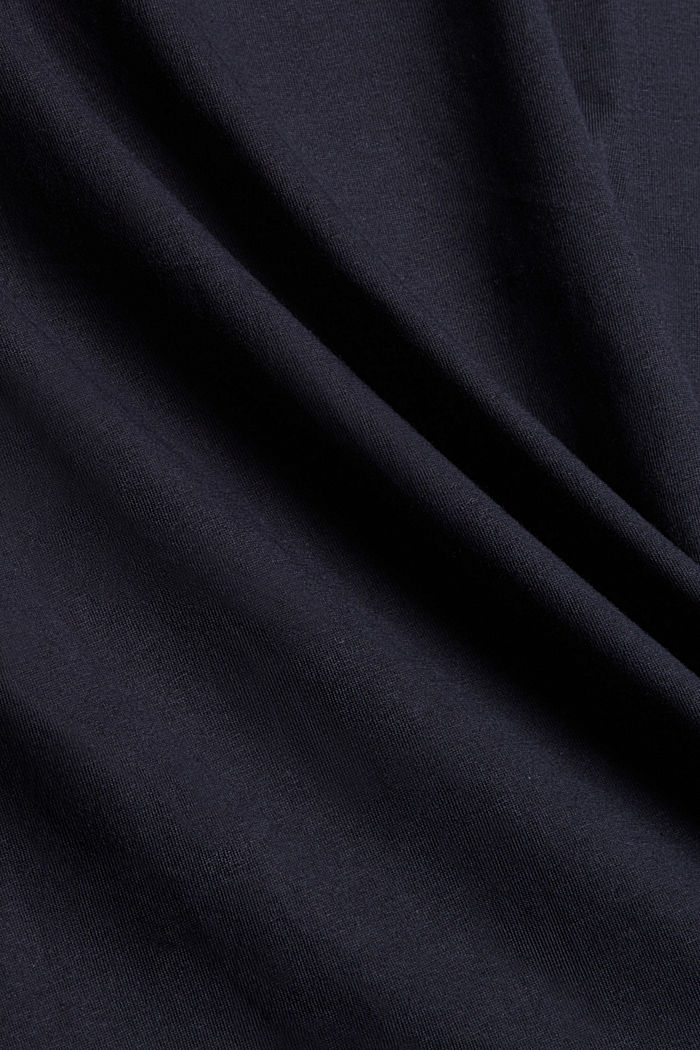 T-Shirt mit Paisleyprint, 100% Bio-Baumwolle, NAVY, detail image number 4