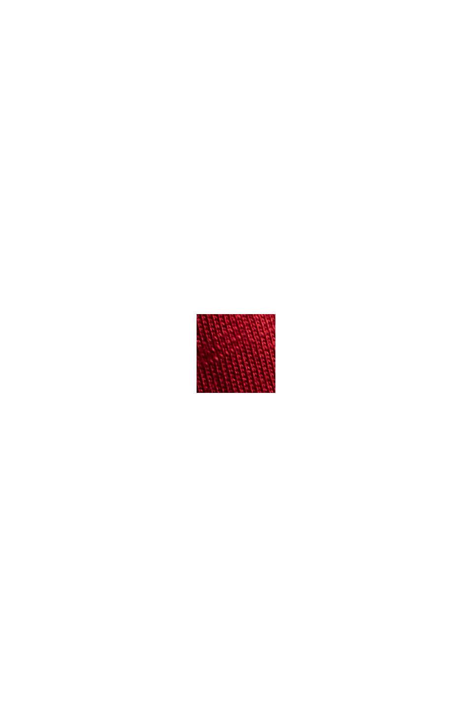 Ballon-Longsleeve aus 100% Bio-Baumwolle, DARK RED, swatch