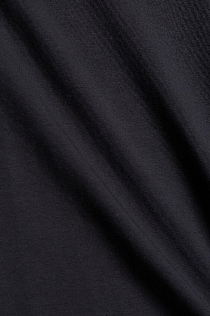 Pull-over à col roulé et à manches longues, coton biologique, BLACK, detail image number 4