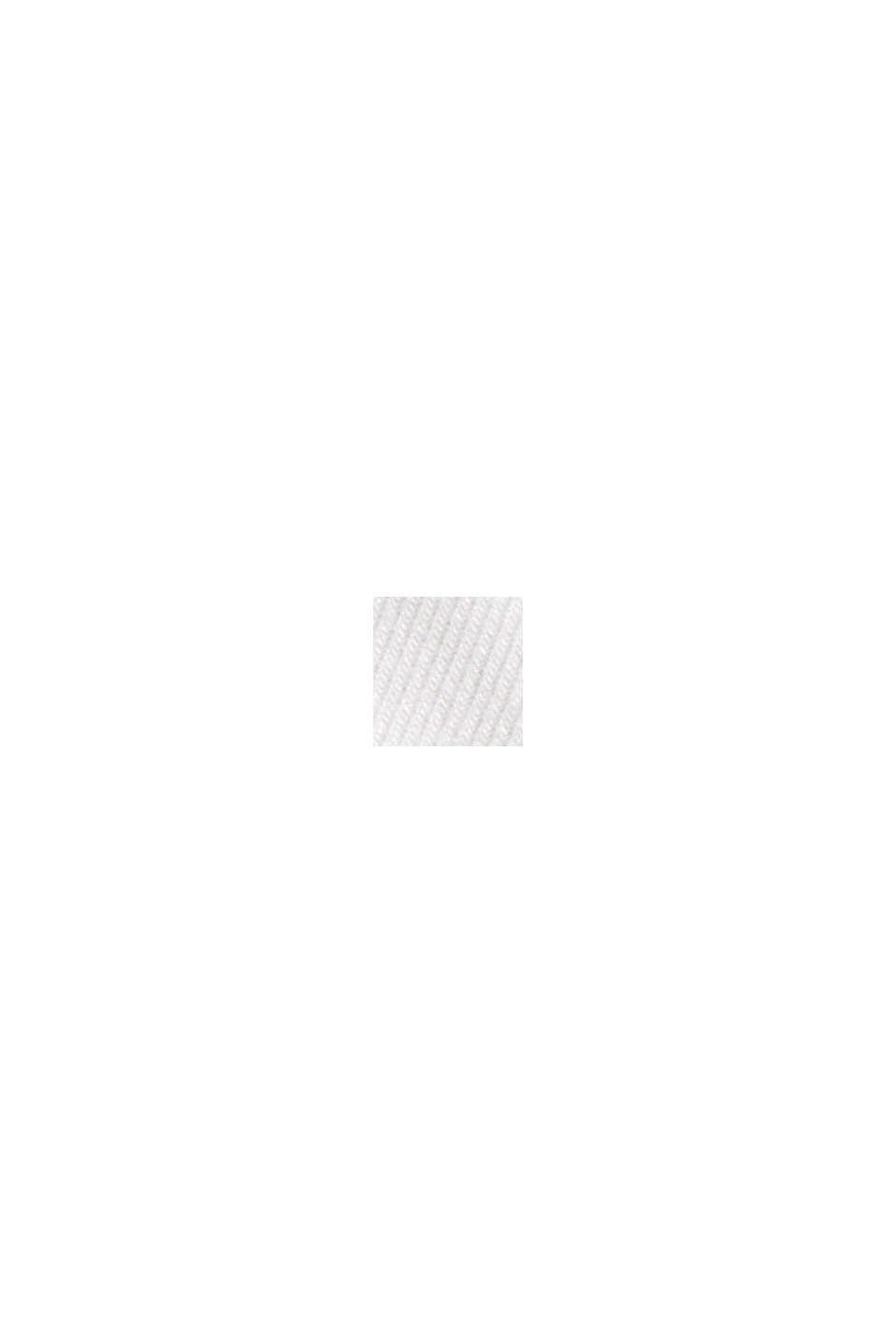 Långärmad tröja med polokrage, ekologisk bomull, OFF WHITE, swatch