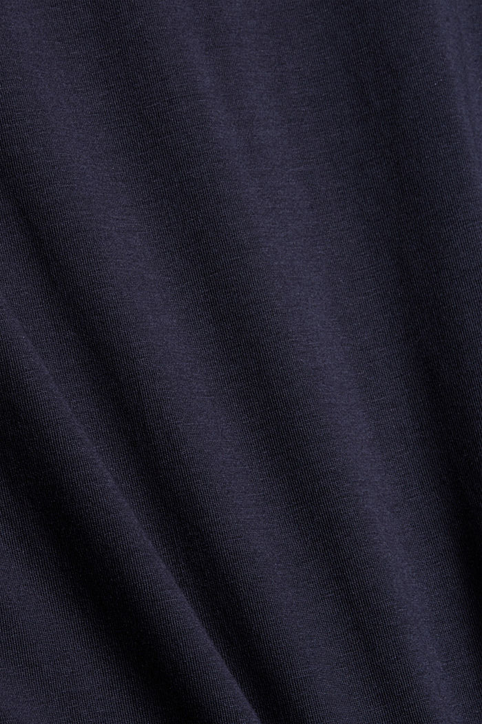 Longsleeve mit Rollkragen, Organic Cotton, NAVY, detail image number 4