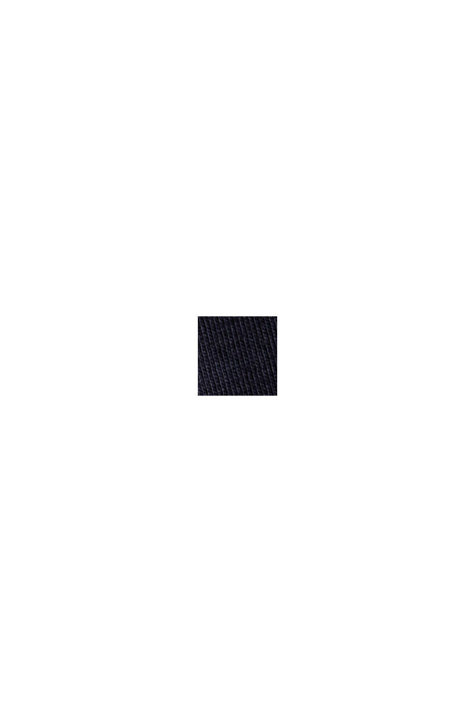 Långärmad tröja med polokrage, ekologisk bomull, NAVY, swatch