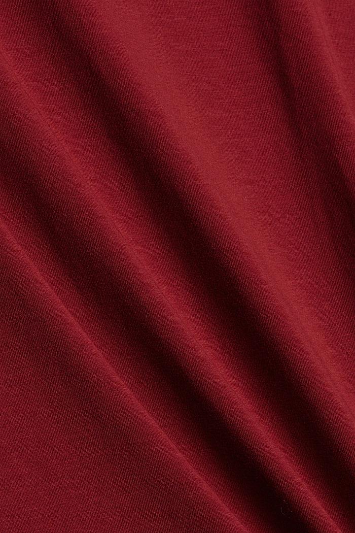 Pull-over à col roulé et à manches longues, coton biologique, DARK RED, detail image number 4