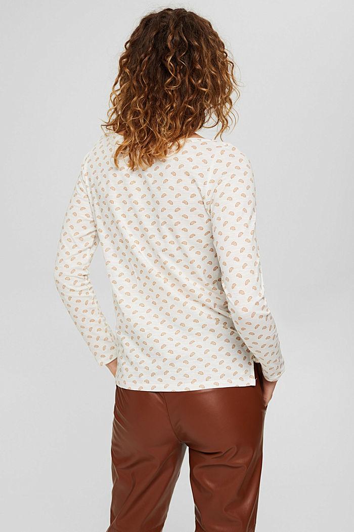 Longsleeve aus 100% Bio-Baumwolle, OFF WHITE, detail image number 3