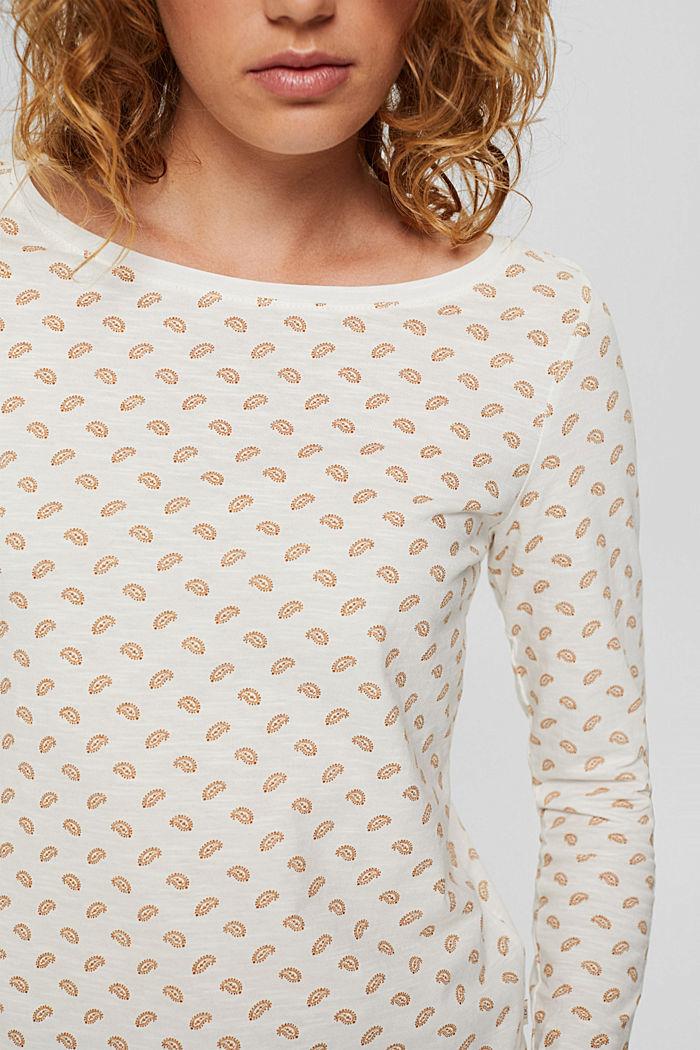 Longsleeve aus 100% Bio-Baumwolle, OFF WHITE, detail image number 2