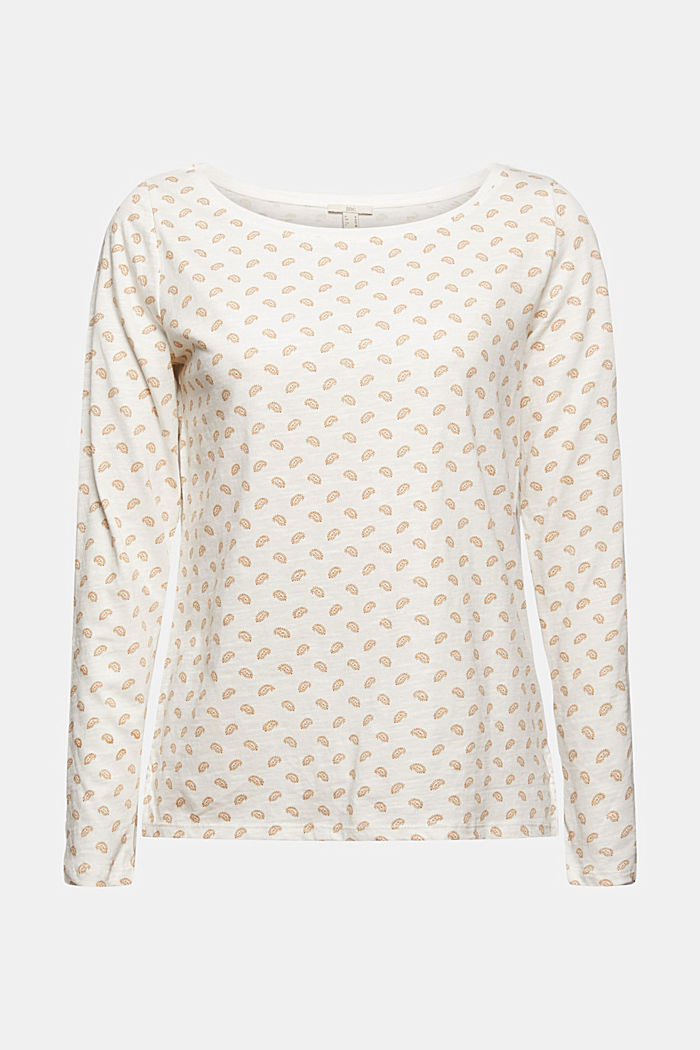 Longsleeve aus 100% Bio-Baumwolle, OFF WHITE, detail image number 6