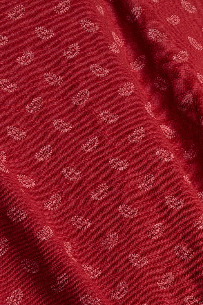Long sleeve top made of 100% organic cotton, DARK RED, detail image number 4