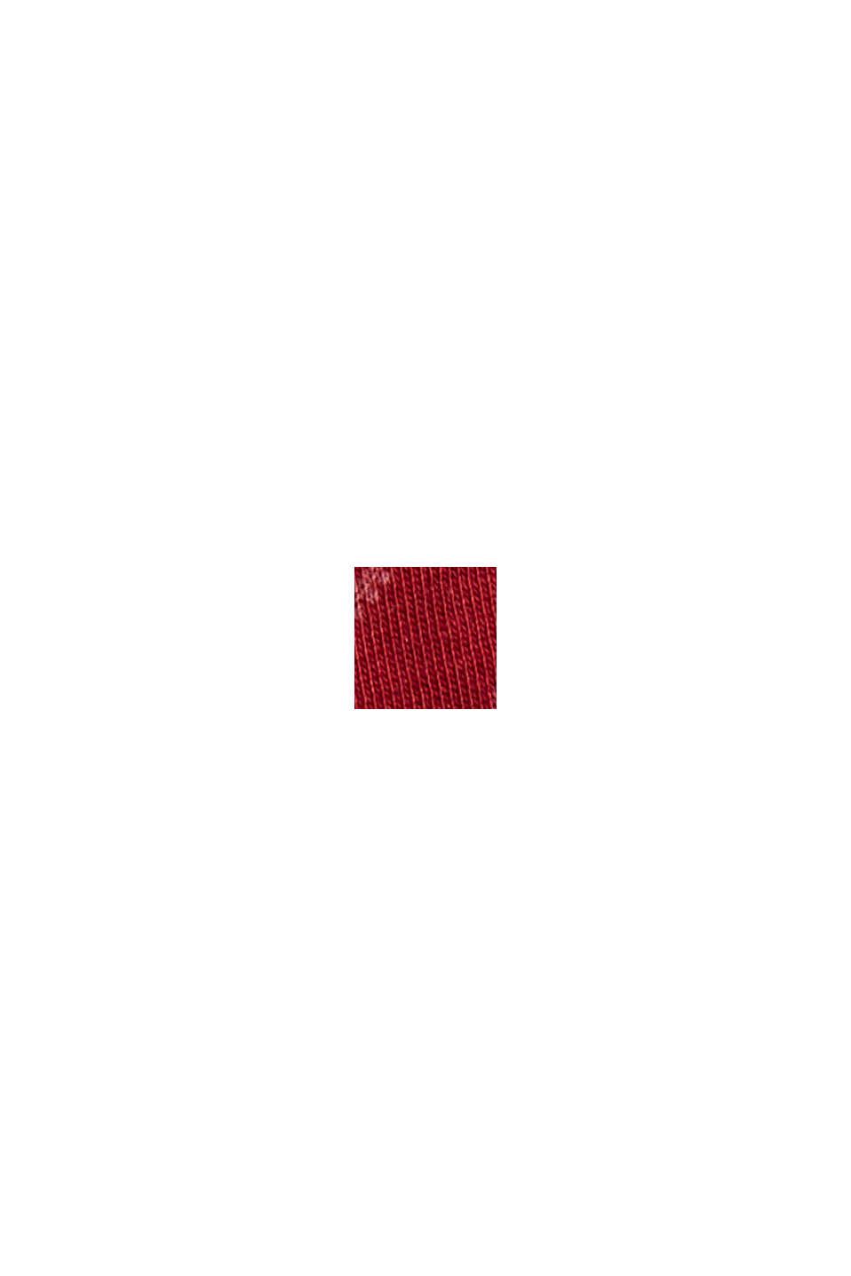 Tričko s dlouhým rukávem ze 100% bio bavlny:, DARK RED, swatch