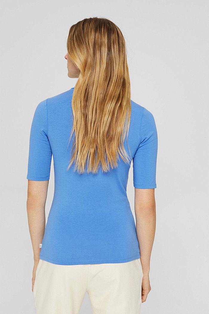 T-Shirt mit Rollkragen, Organic Cotton, BRIGHT BLUE, detail image number 3