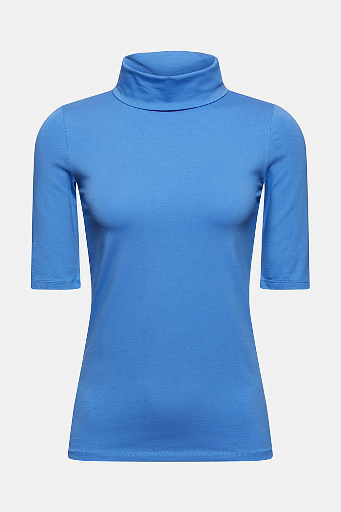T-Shirt mit Rollkragen, Organic Cotton
