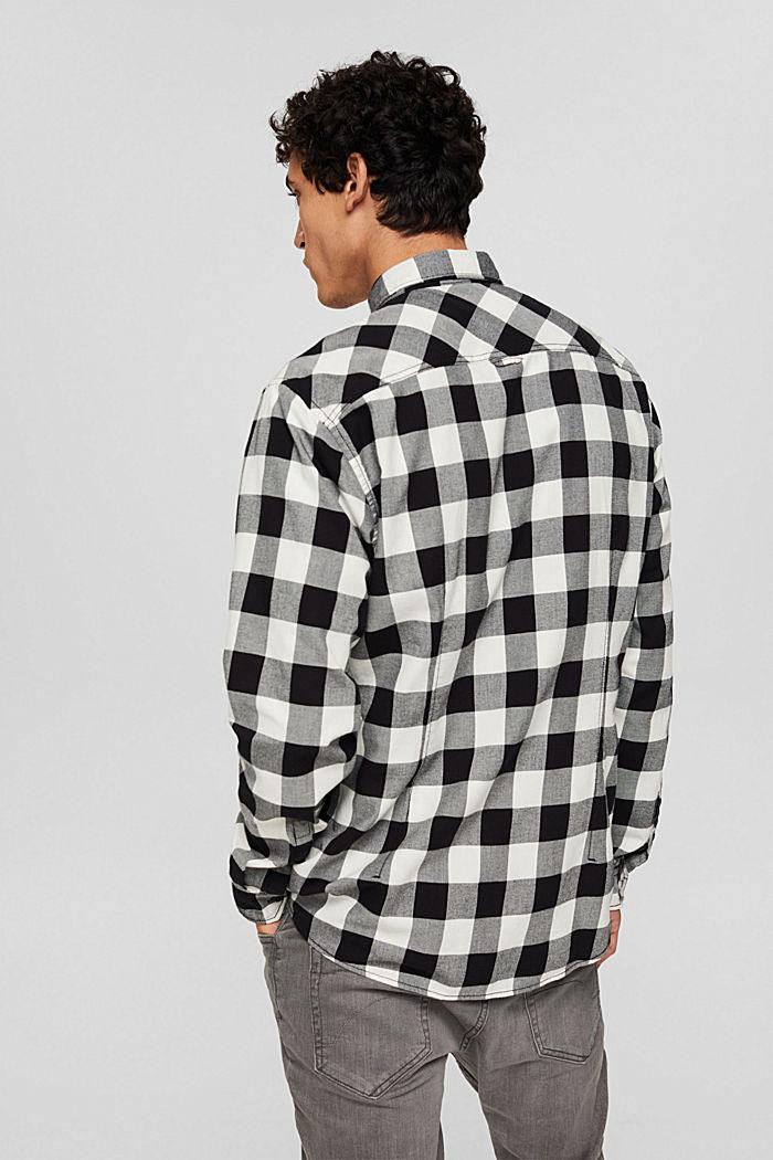Geruit overhemd van 100% katoen, BLACK, detail image number 3