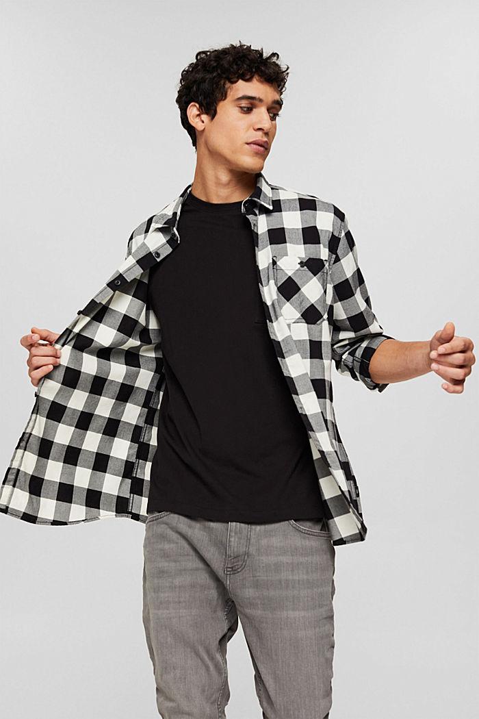 Geruit overhemd van 100% katoen, BLACK, detail image number 5