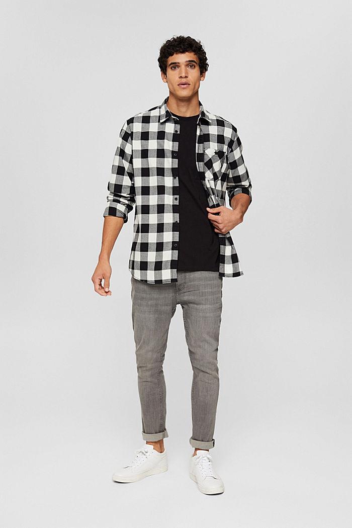 Geruit overhemd van 100% katoen, BLACK, detail image number 6
