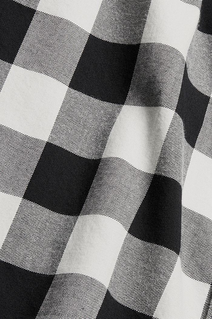 Geruit overhemd van 100% katoen, BLACK, detail image number 4