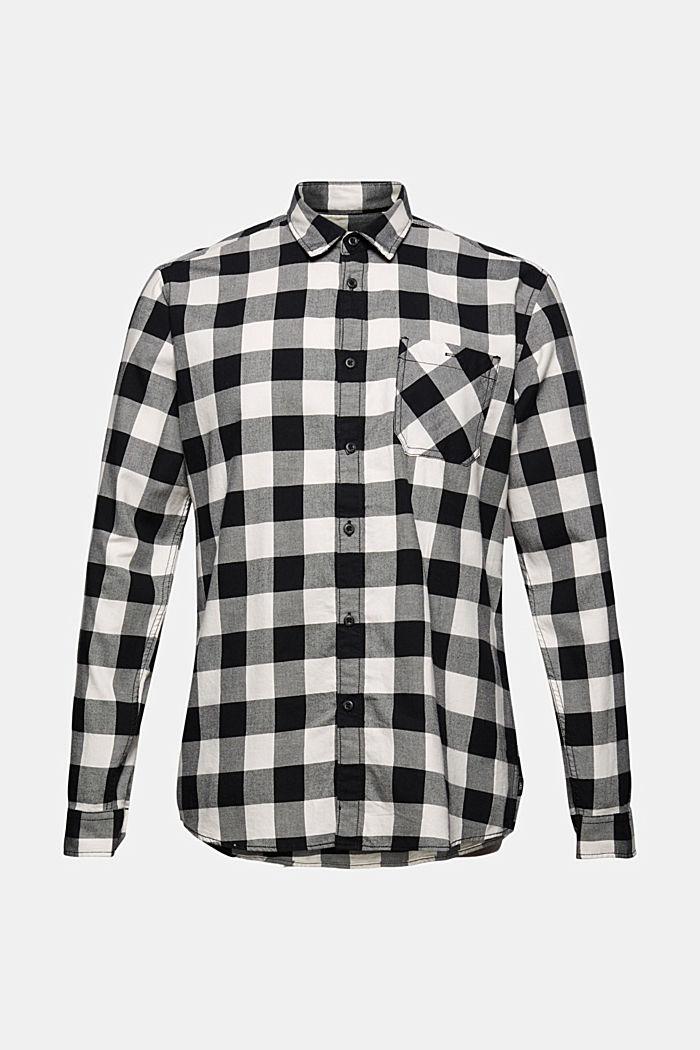 Geruit overhemd van 100% katoen, BLACK, detail image number 7