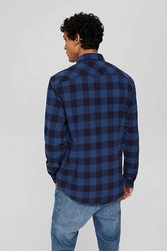 Geruit overhemd van 100% katoen, NAVY, detail image number 3