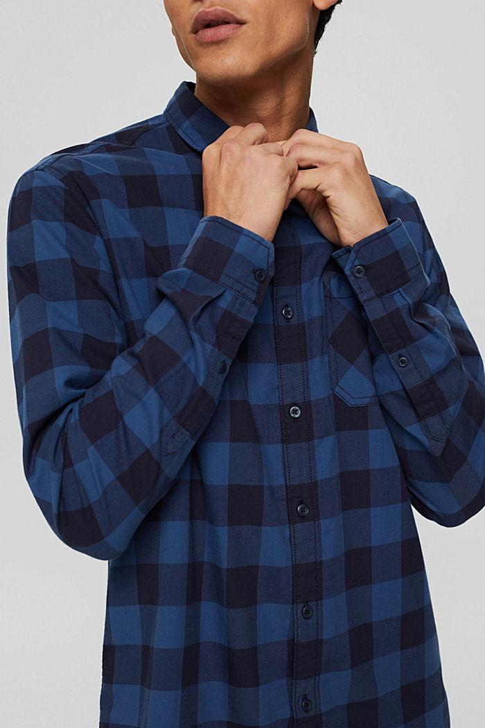 Geruit overhemd van 100% katoen, NAVY, detail image number 2