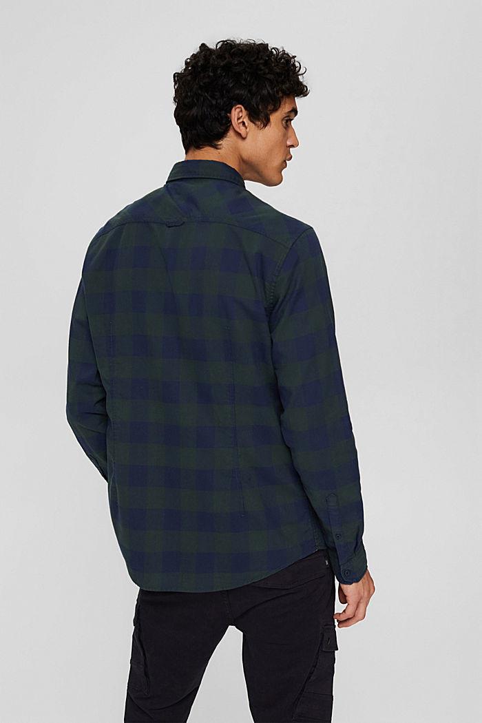 Karohemd aus 100% Baumwolle, TEAL BLUE, detail image number 3