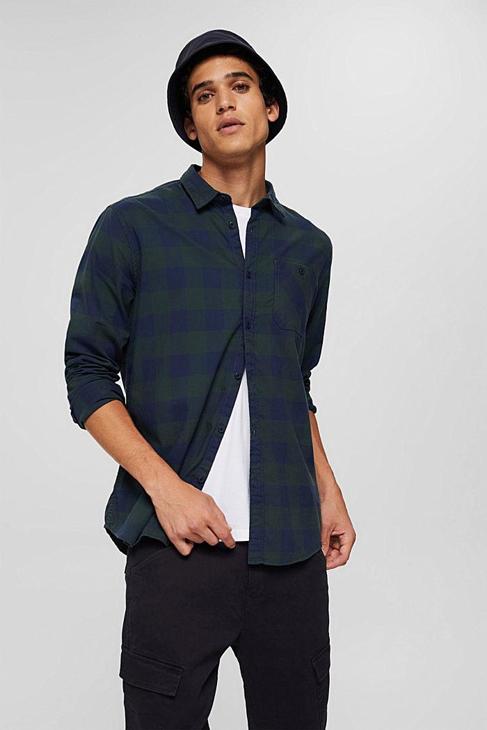 Rutig skjorta i 100% bomull