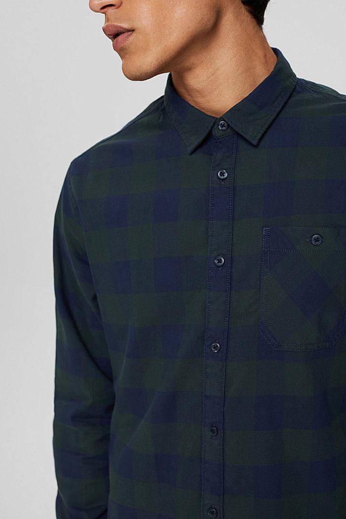 Karohemd aus 100% Baumwolle, TEAL BLUE, detail image number 2