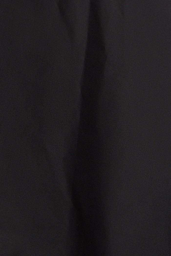 Gerecycled: gewatteerde jas met capuchon, BLACK, detail image number 4