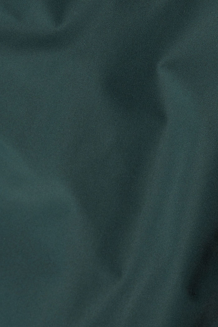 Gerecycled: gewatteerde jas met capuchon, TEAL BLUE, detail image number 5
