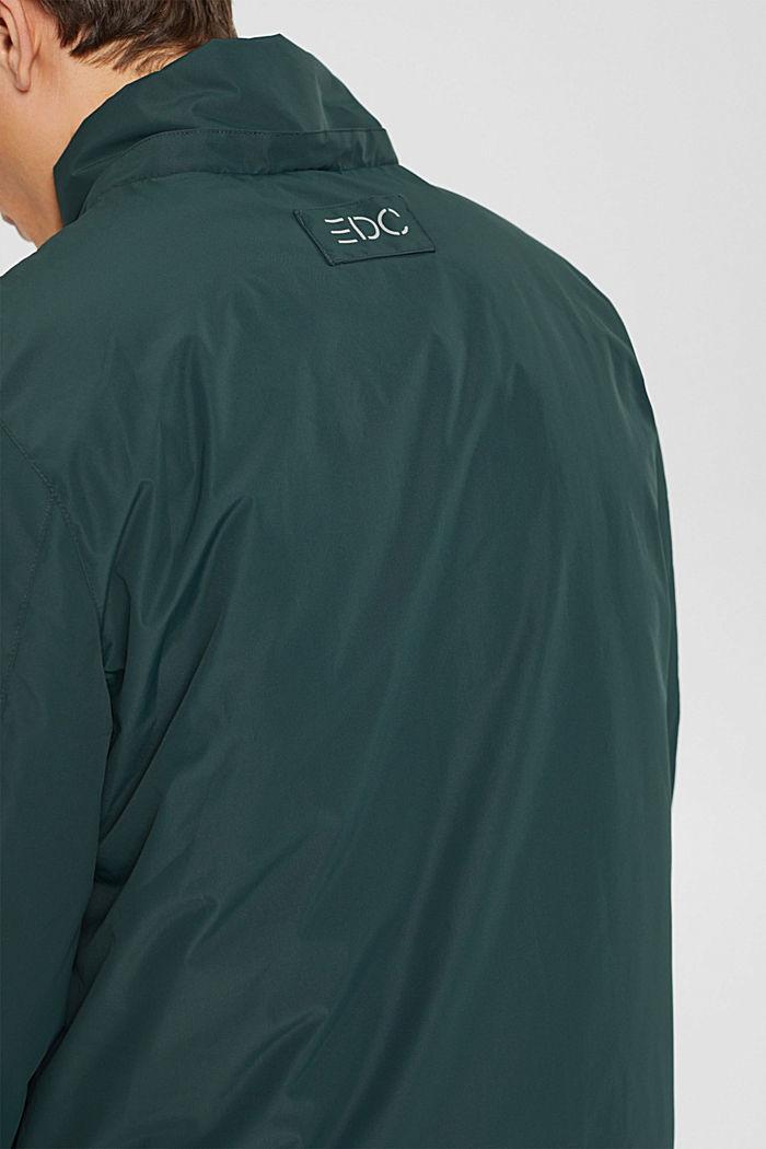 Gerecycled: gewatteerde jas met capuchon, TEAL BLUE, detail image number 6
