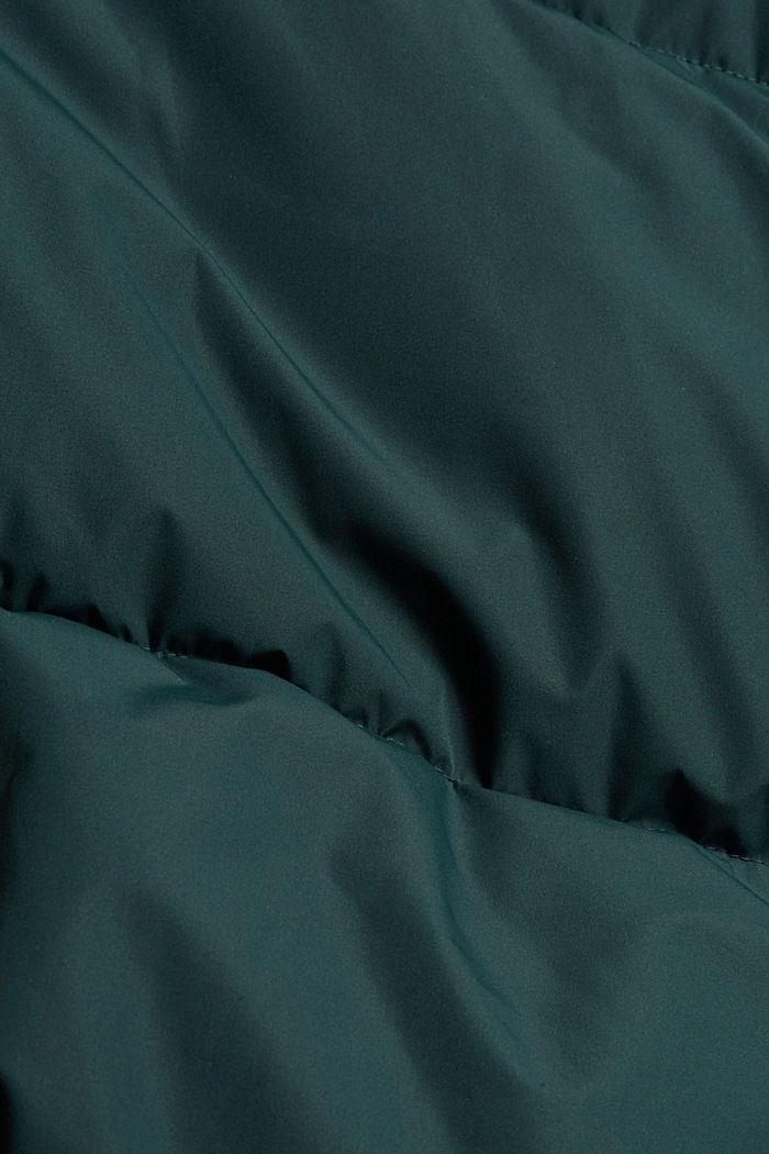 Gerecycled: gewatteerde jas met structuur, TEAL BLUE, detail image number 4