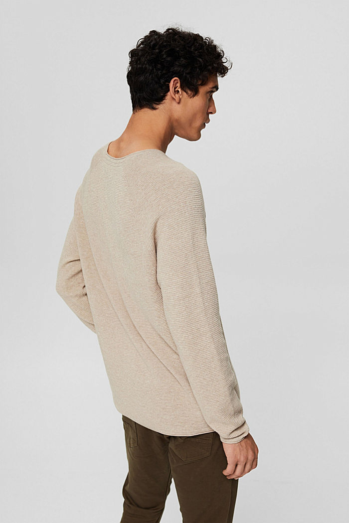 Struktur-Pullover aus 100% Organic Cotton, NEW BEIGE, detail image number 3