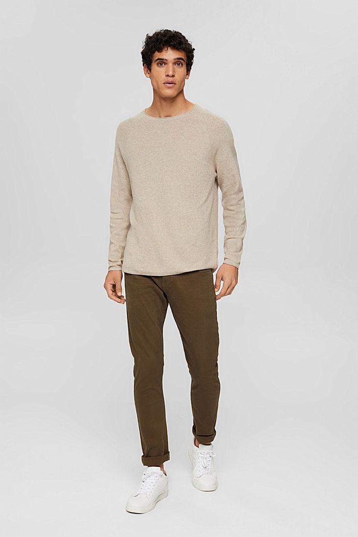 Struktur-Pullover aus 100% Organic Cotton, NEW BEIGE, detail image number 5