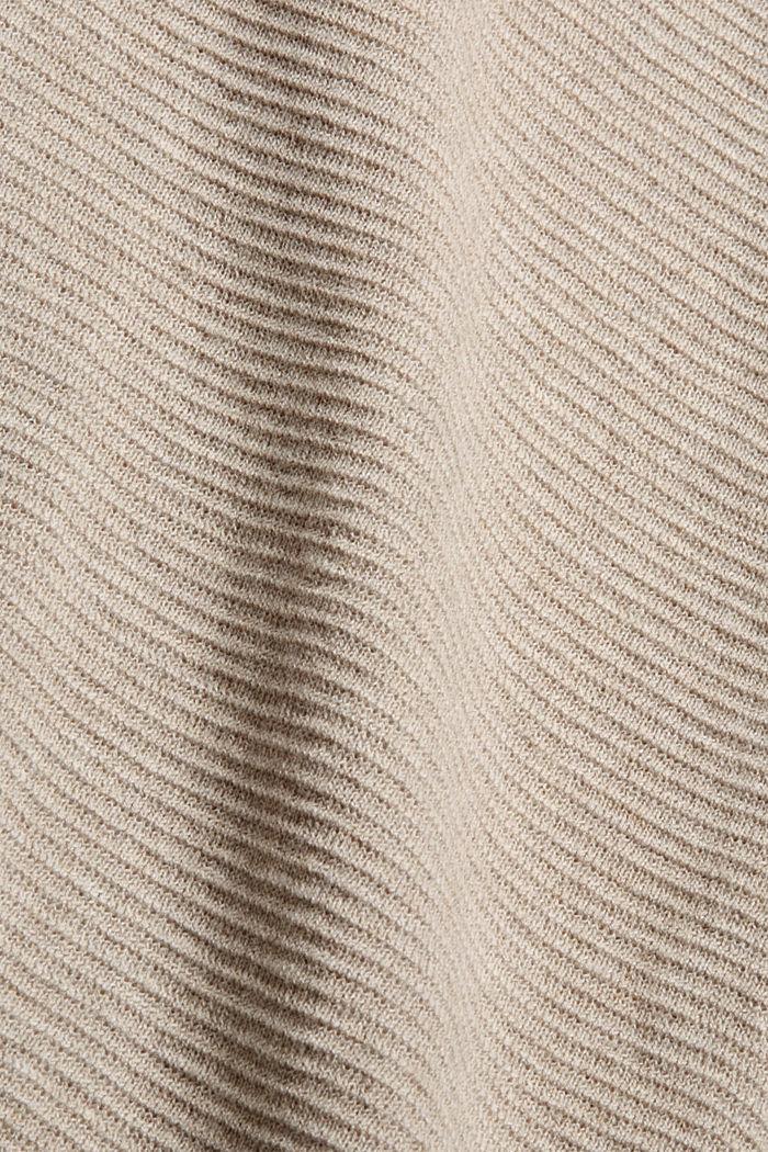 Struktur-Pullover aus 100% Organic Cotton, NEW BEIGE, detail image number 4