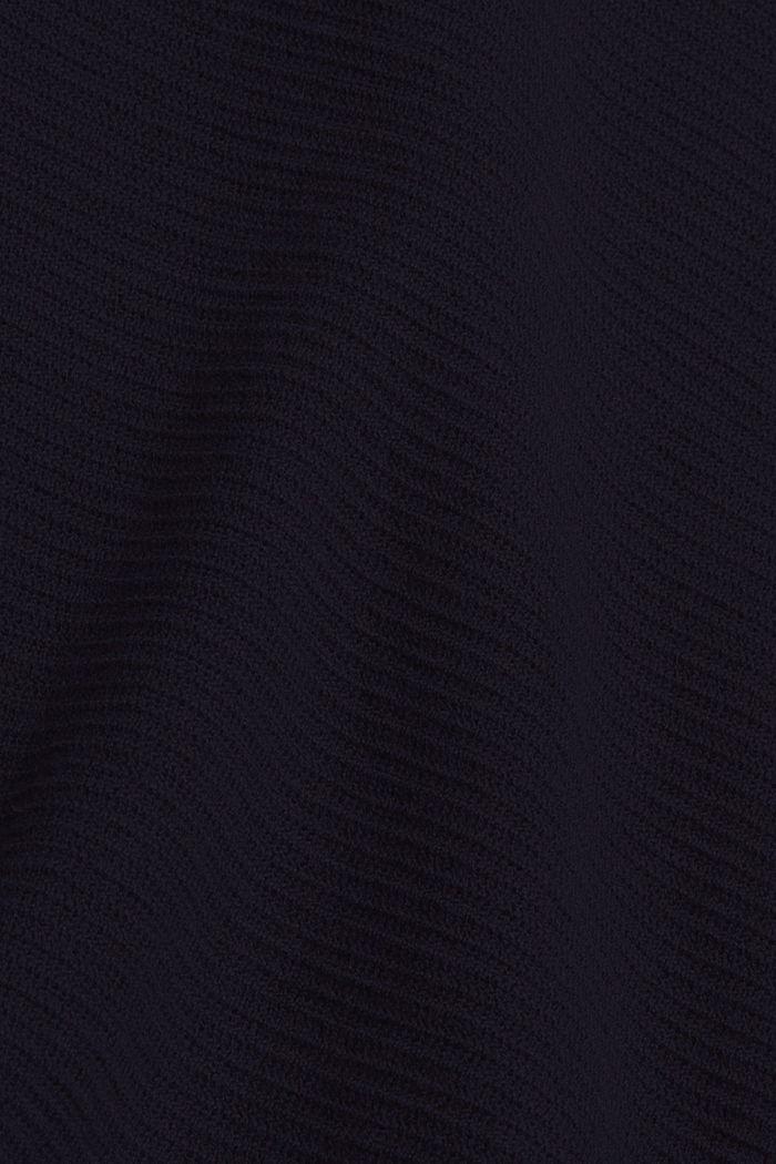 Pull-over texturé, 100% coton biologique, NAVY, detail image number 4
