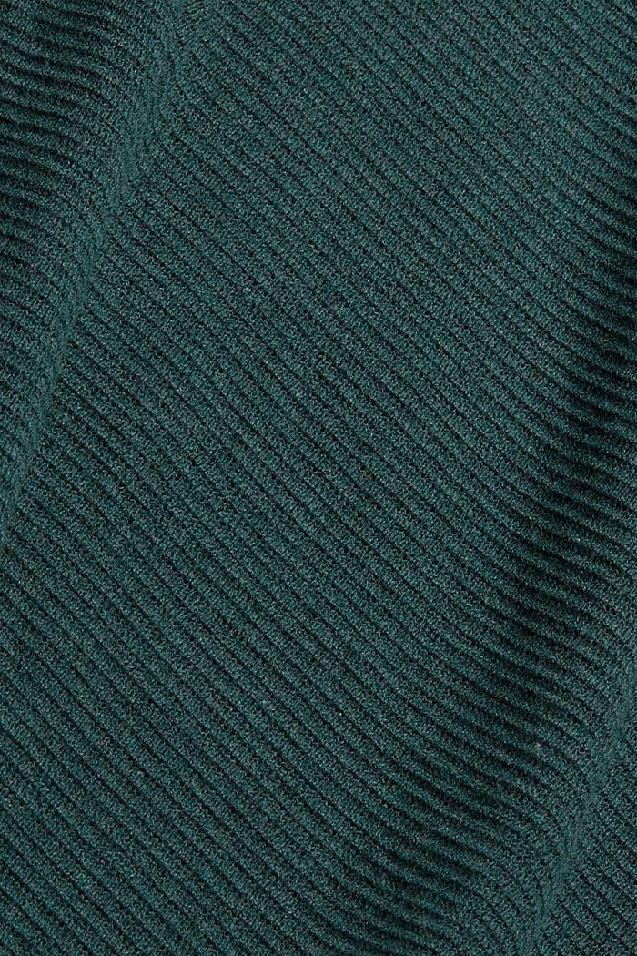 Struktur-Pullover aus 100% Organic Cotton, TEAL BLUE, detail image number 4