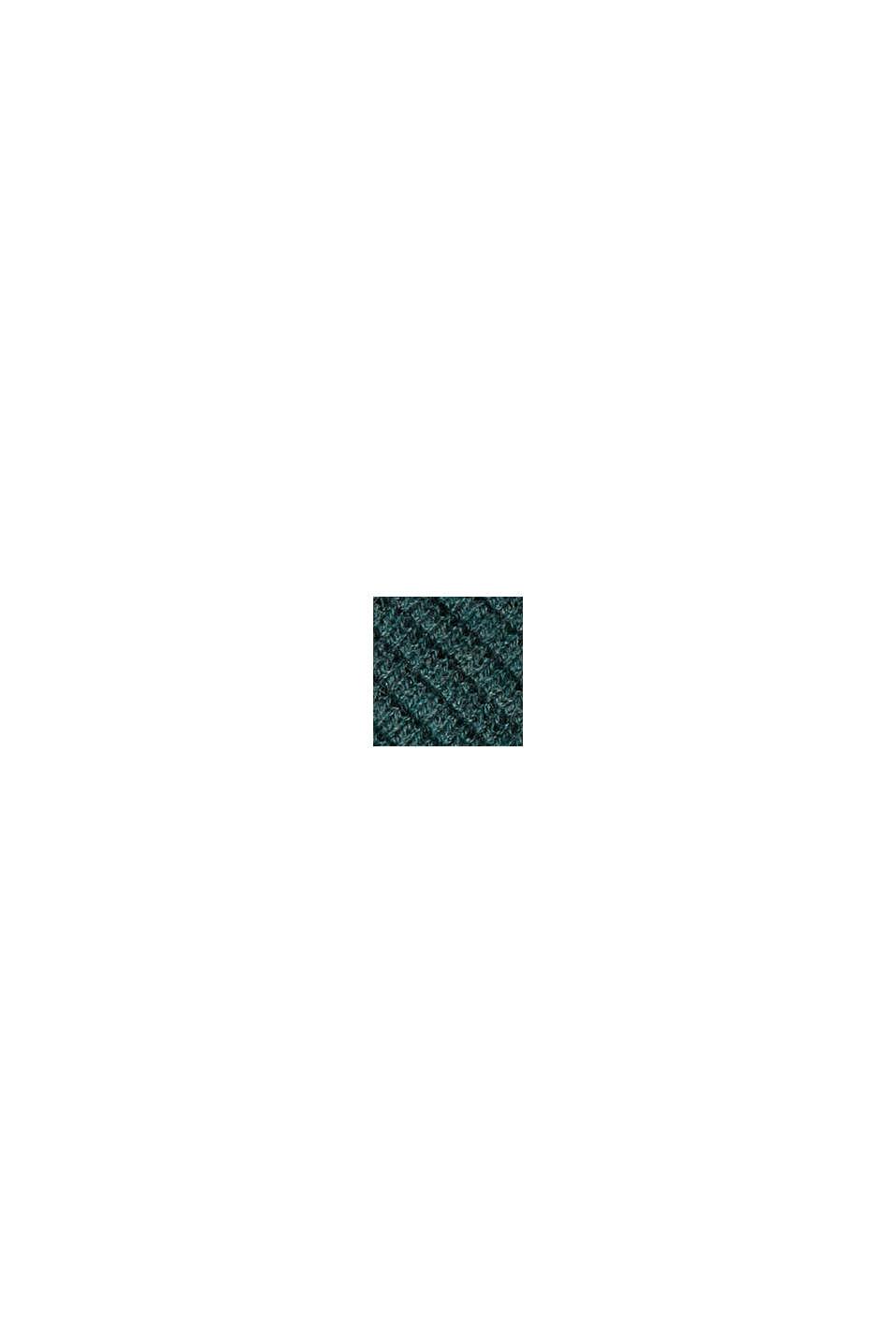 Pull-over texturé, 100% coton biologique, TEAL BLUE, swatch