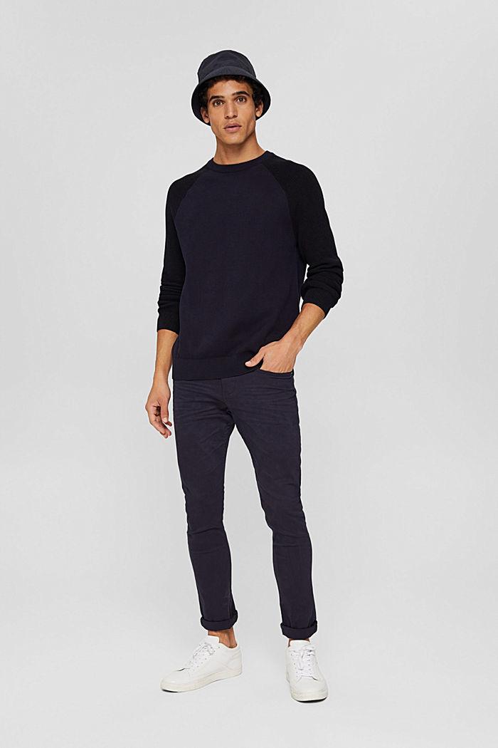 Pullover aus 100% Organic Cotton, NAVY, detail image number 1