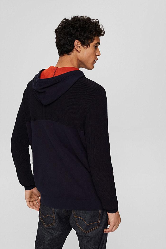 Jersey con capucha confeccionado en una mezcla de algodón ecológico, NAVY, detail image number 3