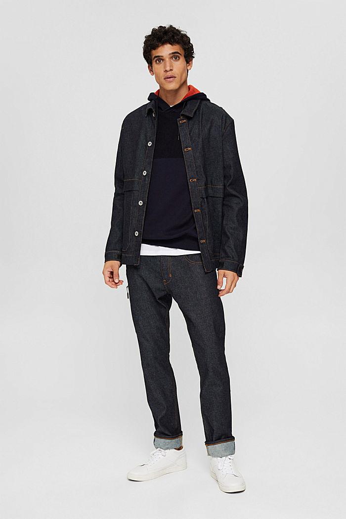 Jersey con capucha confeccionado en una mezcla de algodón ecológico, NAVY, detail image number 1