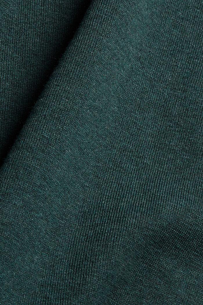 Pullover mit Kapuze aus Bio-Baumwoll-Mix, TEAL BLUE, detail image number 4