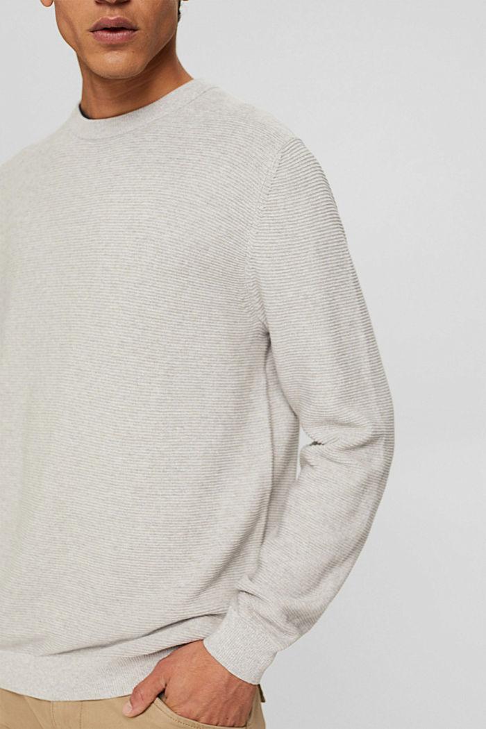 Struktur-Pullover aus 100% Organic Cotton, LIGHT TAUPE, detail image number 2