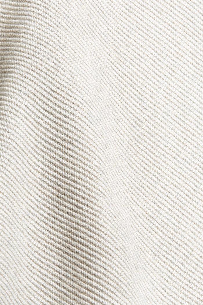 Struktur-Pullover aus 100% Organic Cotton, LIGHT TAUPE, detail image number 4