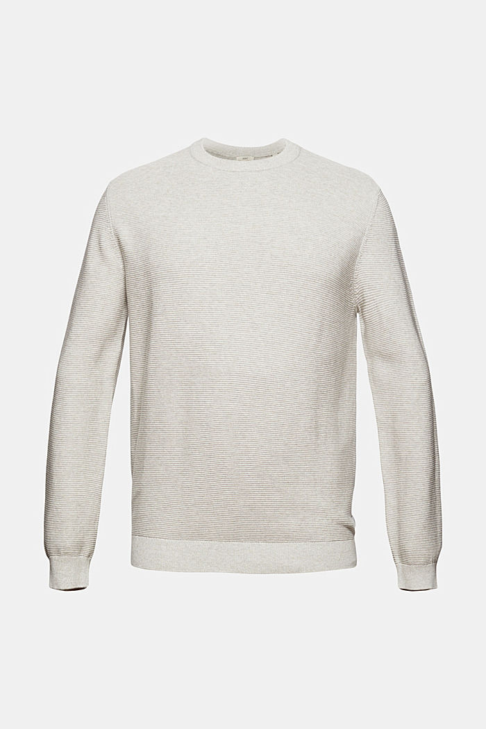 Struktur-Pullover aus 100% Organic Cotton, LIGHT TAUPE, detail image number 6