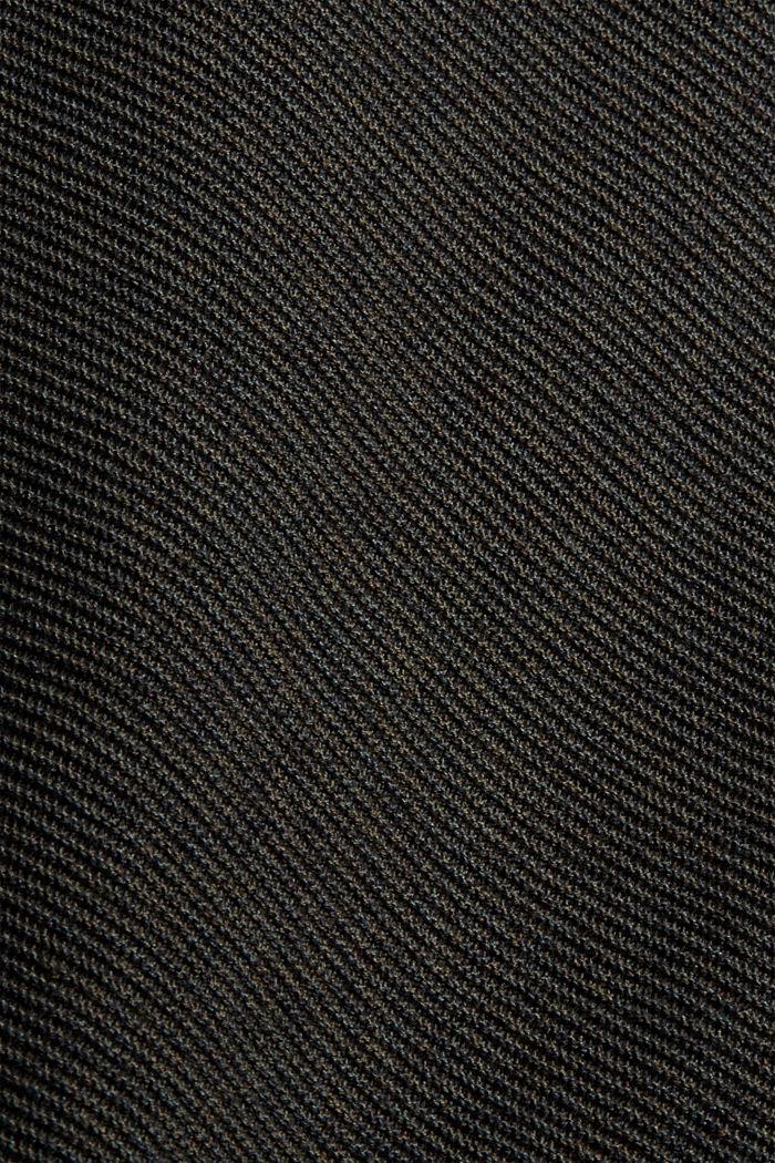 Textured jumper made of 100% organic cotton, DARK KHAKI, detail image number 4