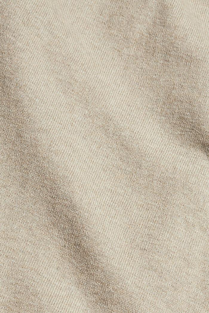 À teneur en cachemire: le pull-over à col cheminée, LIGHT TAUPE, detail image number 4