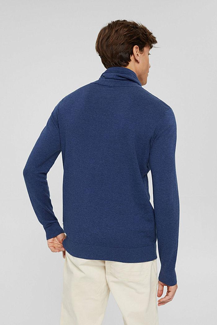 Mit Kaschmir: Pullover mit Tunnelkragen, GREY BLUE, detail image number 3
