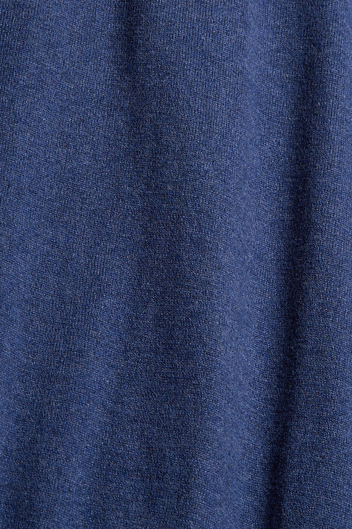 Mit Kaschmir: Pullover mit Tunnelkragen, GREY BLUE, detail image number 4